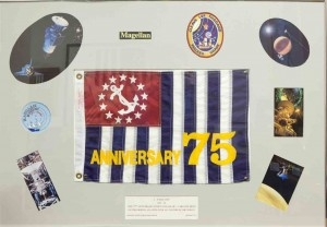 USPS 75th anniversary ensign