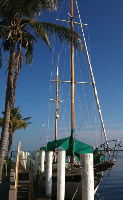 Calypsa at the dock