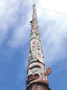 World's largest totem in Alert Bay, British Columbia