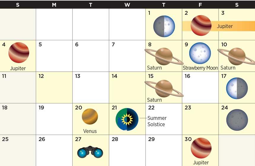 Star calendar June 2017