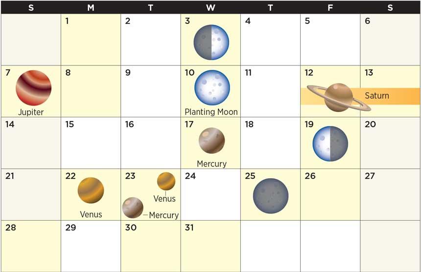 Star calendar May 2017