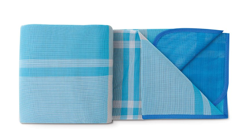 CGEAR COMFORT WEAVE SAND-FREE MAT BLUE PLAID2