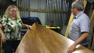 Electric Boat Building Stitching the parts together