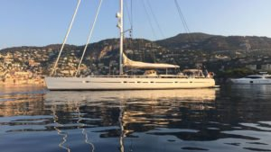 Photo of 95-foot sailing yacht Savarona anchored in Marmaris, Turkey