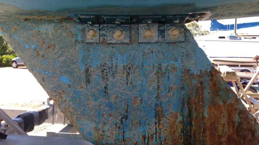 Photo of wear and tear on a boat