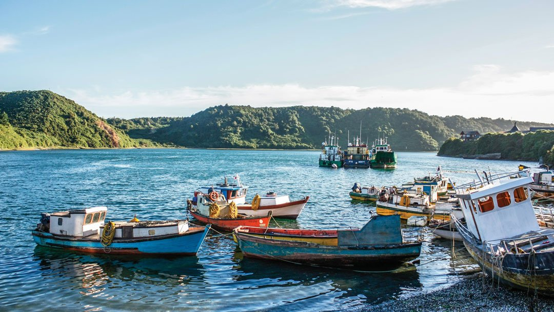 Fishing Boats in Angelmo, Puerto Montt, Chile