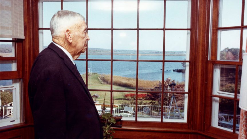 Excellence in Teaching Founder Charles F. Chapman at his home By Land or Sea
