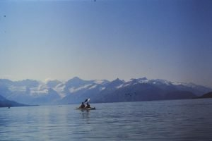 Dan and Larry kayak on Glacier Bay