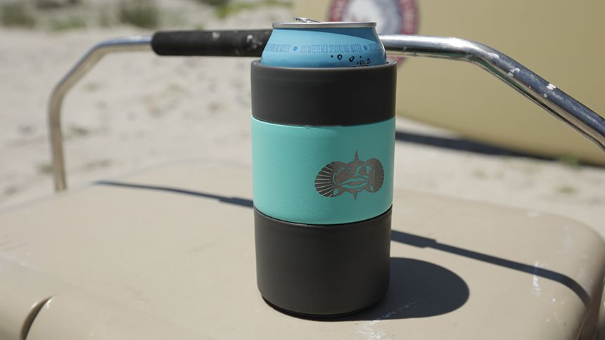 Toadfish koozie