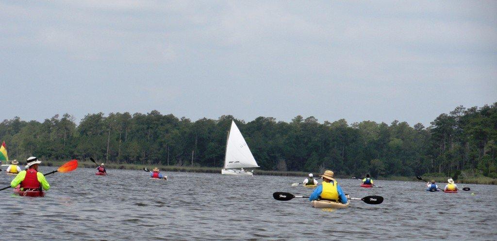 Oriental Rendezvous kayak tour down the Neuse River