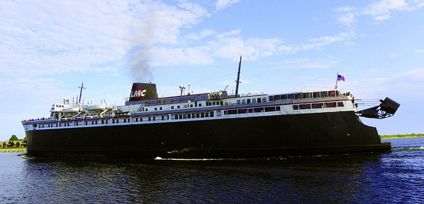 Boaters sail on historic SS Badger