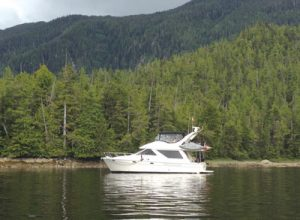 Aqua Therapy at anchor in British Columbia