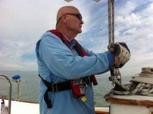 De Wayn Meek on a boat
