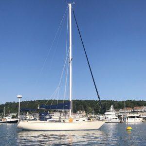 Sailboat Artemis in Boothbay Harbor, Maine
