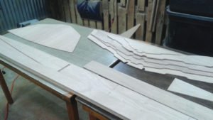 Electric Boat Parts Cut Out in Plywood