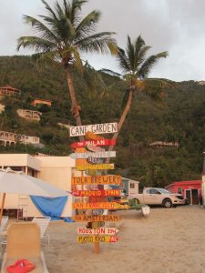 Photo of Sign at Cane Garden Bay, Tortola, in the BVIs