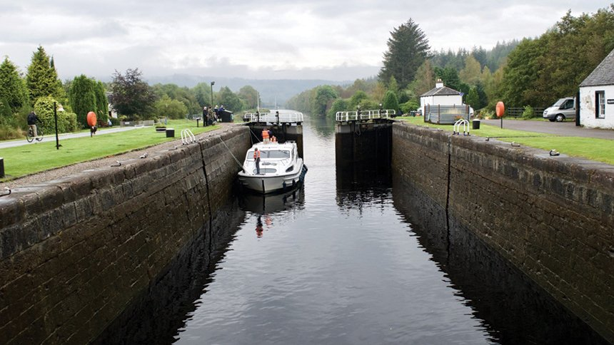 Locking through Caledonian Canal
