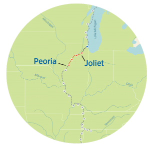 Great Loop Map from Joliet to Peoria
