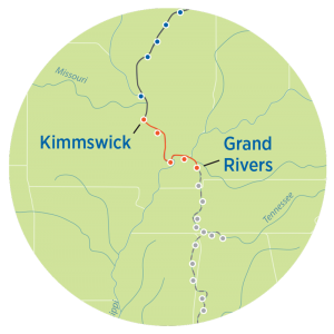 Great Loop Map from Kimmswick to Grand Rivers