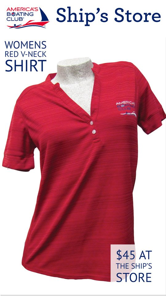 Ship's Store Womens Red V-Neck Shirt Buy Now!