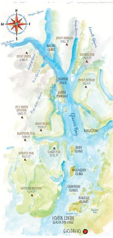 Map of Glacier Bay