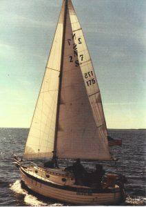 Chinook under sail