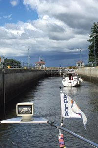 America's Great Loop Part Six Transiting the Troy Lock in Troy, New York