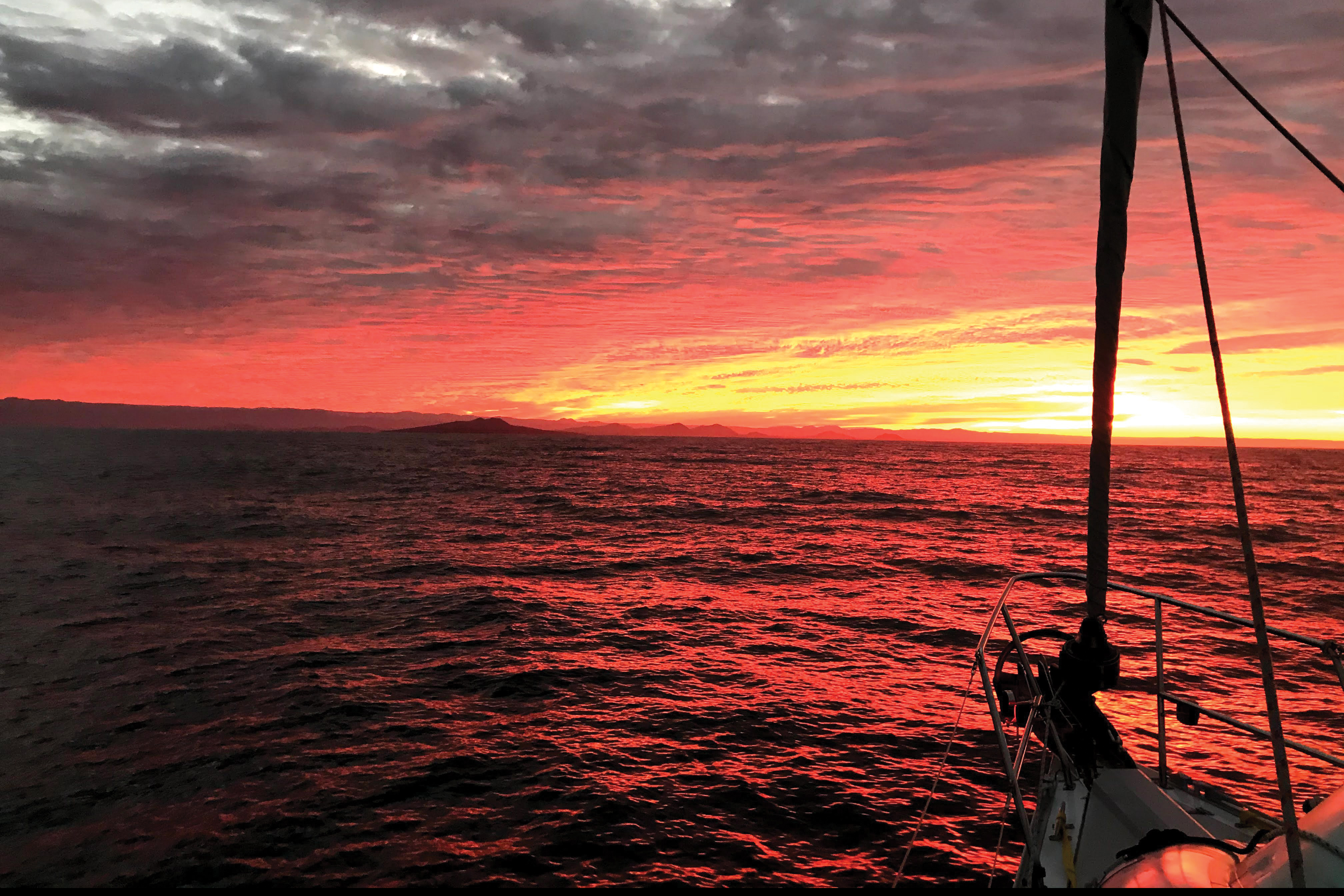 Pandemic Cruise to Baja and Back brings us sunset on the water.